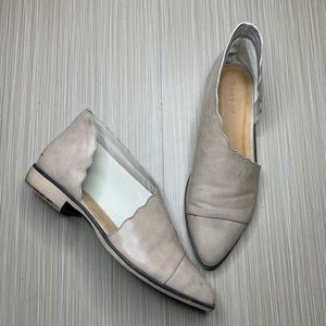 Bamboo Gray Masterpiece Scalloped D'Orsay Bootie